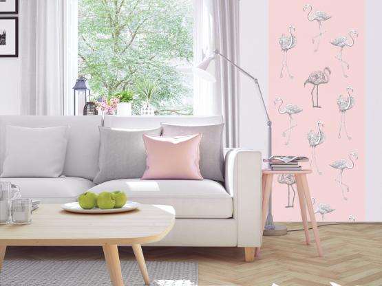 papier peint adh sif fantaisie mod le flamants roses. Black Bedroom Furniture Sets. Home Design Ideas